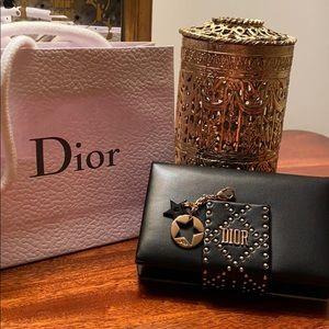 Christian Dior Business Card Case Star Charm